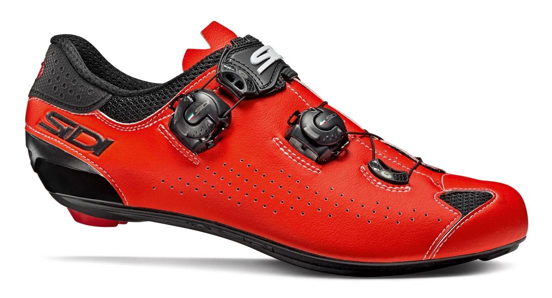 White//Black//Red SIDI Genius 7 Carbon Road Cycling Shoes